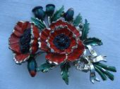 Red Poppy signed by Exquisite 1960's era  (SOLD)